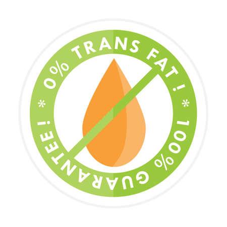 salt free: trans fat free label Illustration