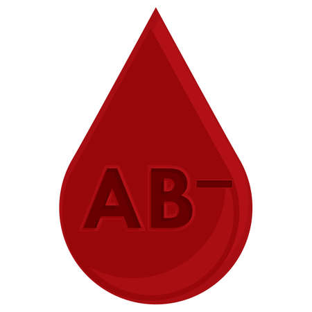 negative: blood drop with blood group ab negative