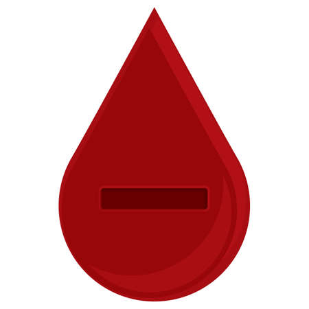 minus sign: blood drop with minus sign Illustration