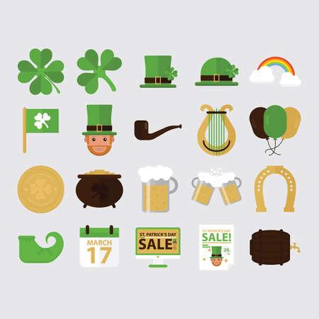 caballo bebe: conjunto de iconos de d�a de St.Patrick Vectores