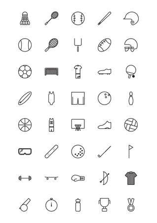 pom pom: set of sports icons