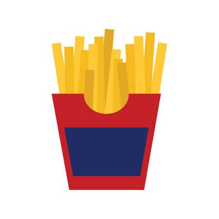 patatine fritte Vettoriali