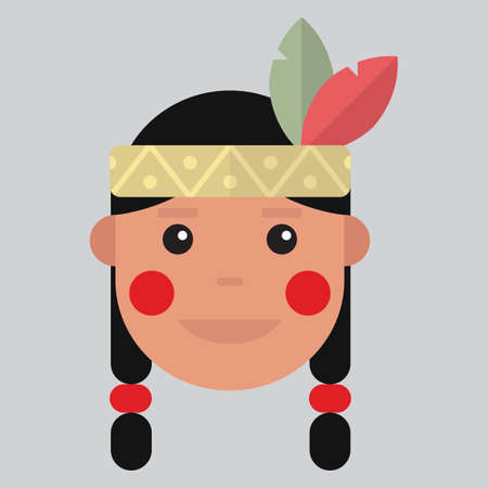 pilgrim costume: native american indian girl
