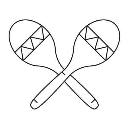 rattles: crossed maracas