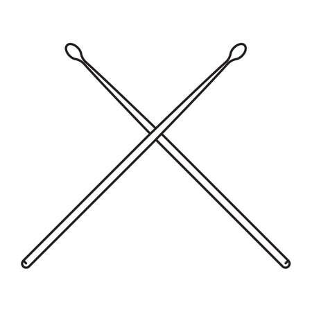 crossed drumsticks