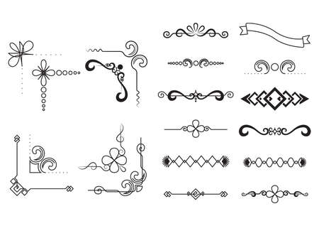 set of decorative borders