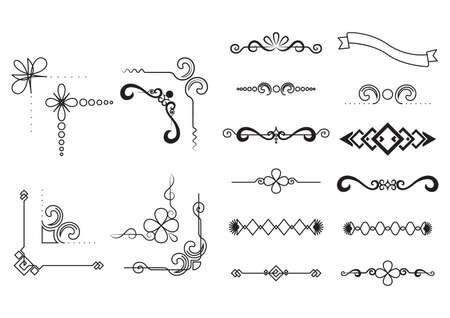 set of decorative borders Stock Illustratie