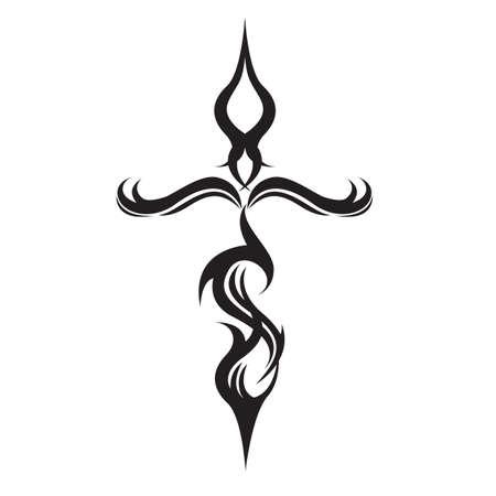tatuaje tribal cruz