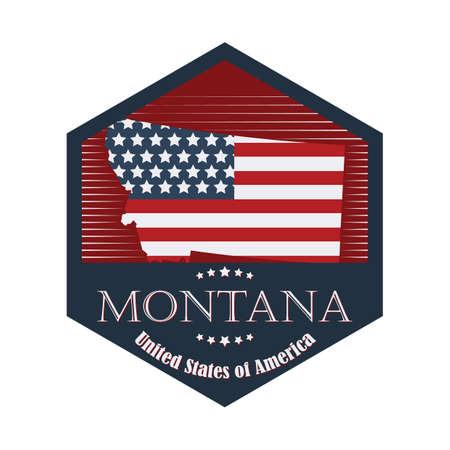 montana label Векторная Иллюстрация