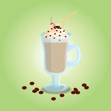 cold coffee: cold coffee with cream