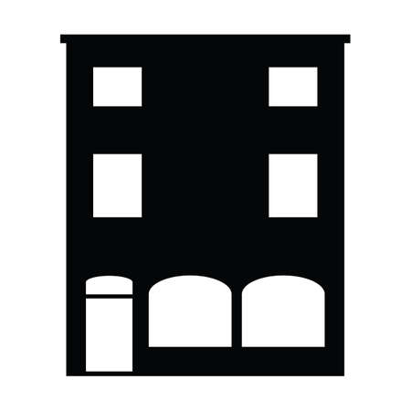 building silhouette: silhouette of building