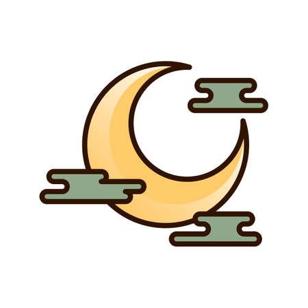 moon: crescent moon Illustration