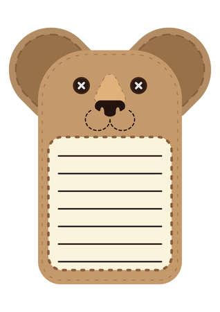 cute bear: cute bear note