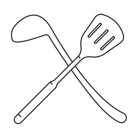 ladle: crossed spatula and ladle