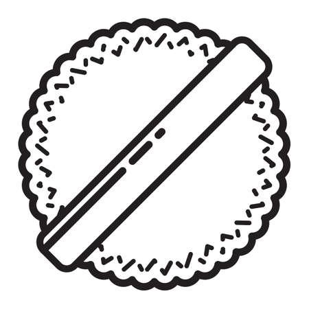puff: powder puff Illustration