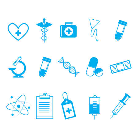 first job: doctor icons Illustration