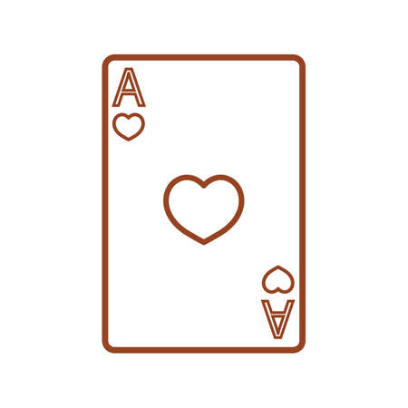 ace: ace of heart poker card