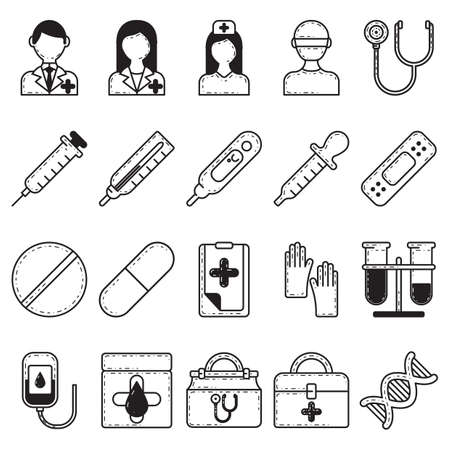 doctor gloves: doctor icons Illustration