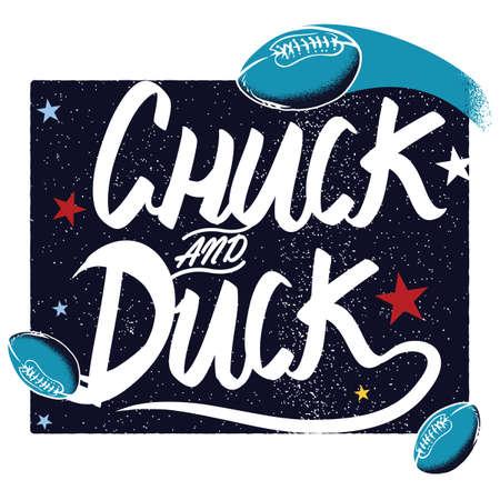 chuck: american football poster design Illustration