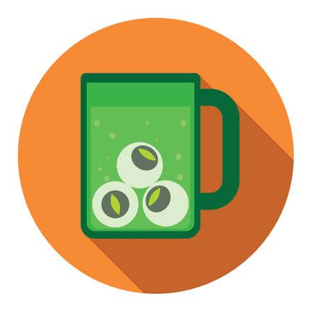 eyeballs: eyeballs in mug Illustration