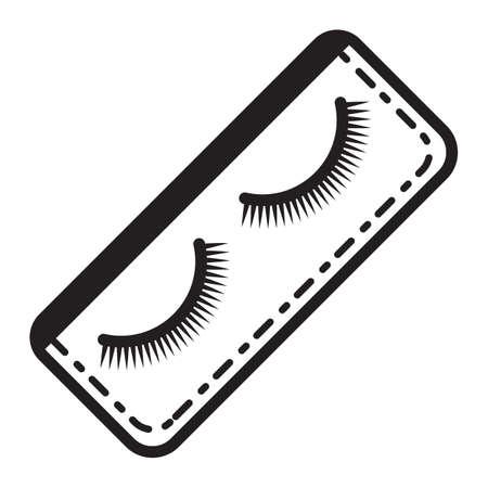false: false eyelashes Illustration