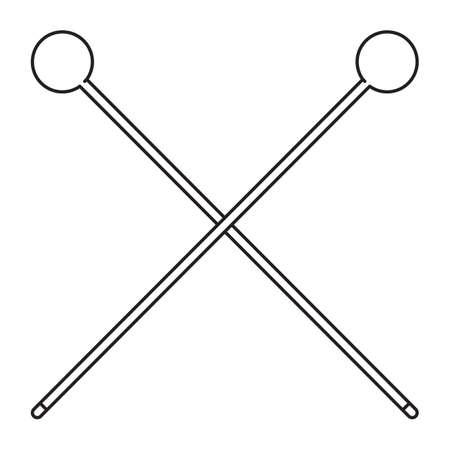 drumsticks: crossed drumsticks