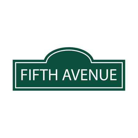avenue: fifth avenue Illustration
