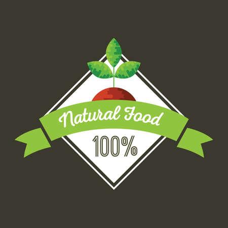 food: natural food label Illustration