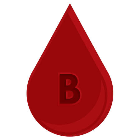 group b: blood drop with blood group b