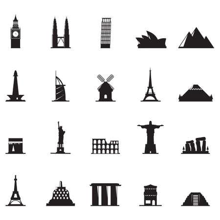 port jackson: silhouette of famous landmarks