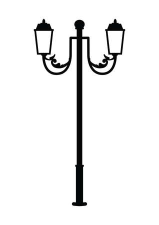 silhouette of street lamp