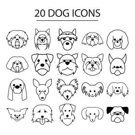 set of dog icons Çizim