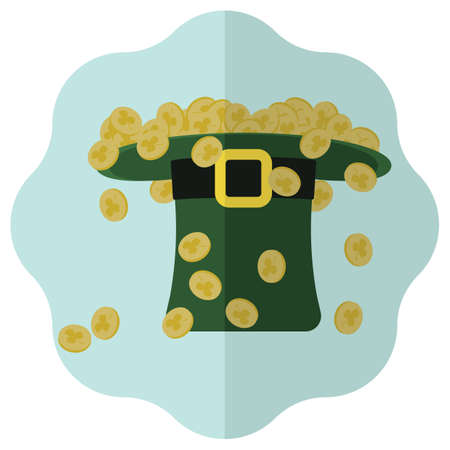 headwear: leprechaun hat full of coins