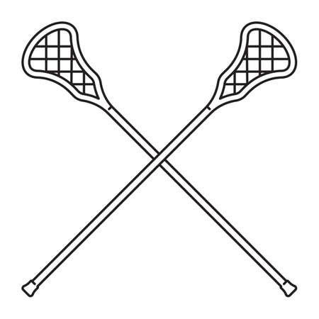 palo de lacrosse cruzado