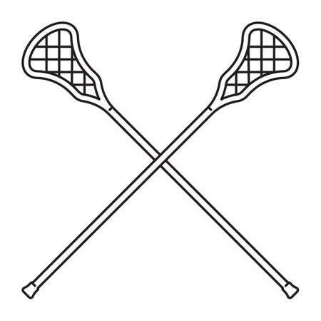 crossed lacrosse stick
