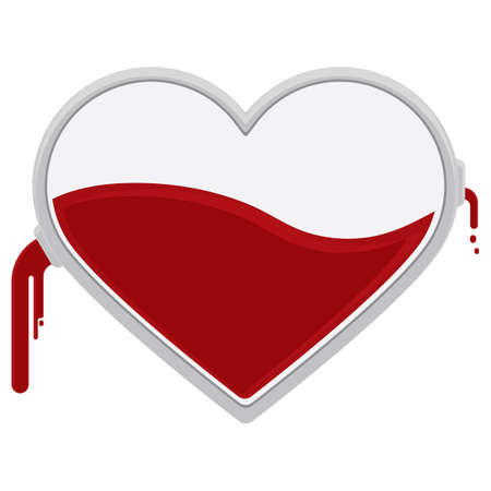 symbolics: heart with blood dripping out Illustration