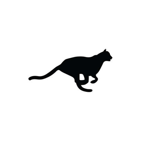 feline: silhouette of panther Illustration