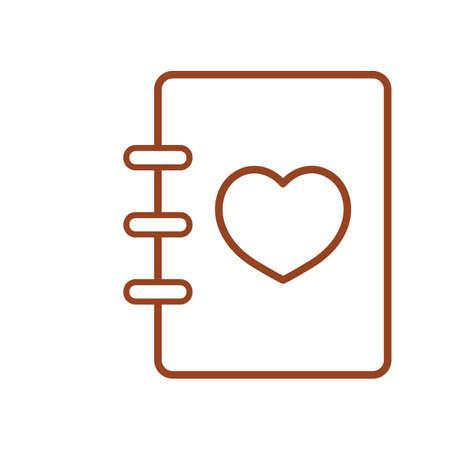 address: address book with heart