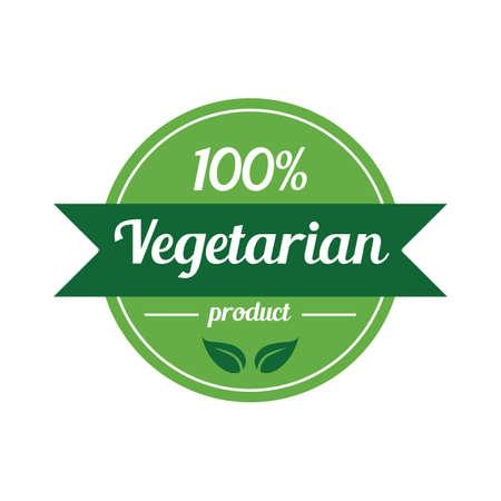 marchio vegetariano al 100 per cento