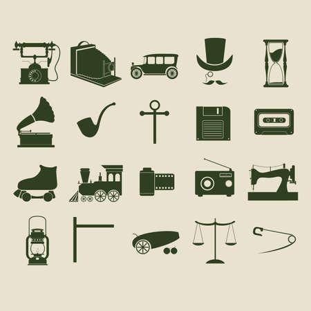 telephone pole: retro icons Illustration