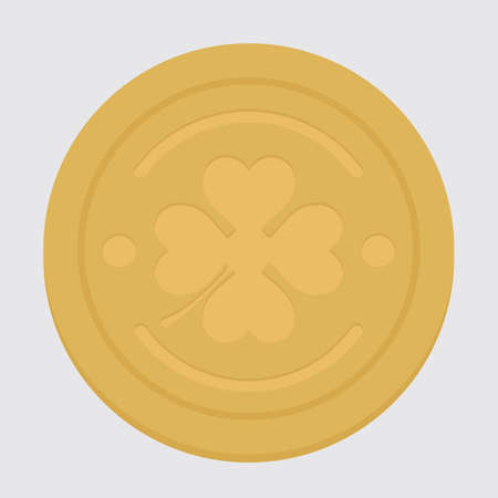 gold coin: gold coin with clover design