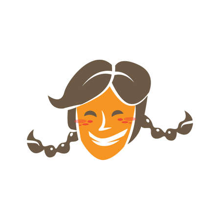 woman smiling Illustration