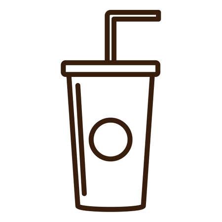 takeaway: takeaway cup with a straw