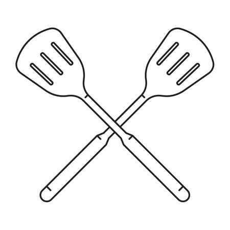 crossed spatula