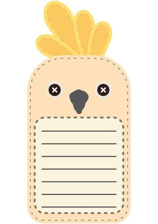 cockatoo: cute white cockatoo note