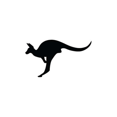 silhouette of kangaroo