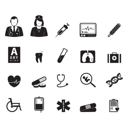 test tube baby: doctor icons Illustration
