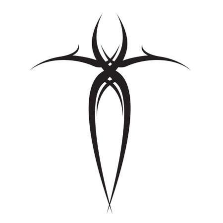 tatuaggio tribale croce Vettoriali