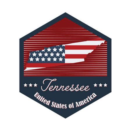tennesse: etiqueta de Tennessee Vectores
