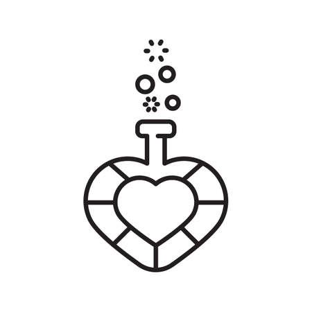 pócima: poción de amor Vectores